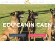 screenshot https://www.educanincaen.com/ Education canine à Caen