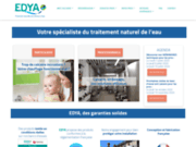 screenshot http://www.edya.fr edya solutions de traitement de l'eau