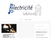 LEBLOND ELECTRICITE : installation électrique, rénovation éclairage, chauffage, ventilation, alarme