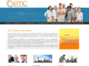 screenshot http://www.emc-recrutement.com emc recrutement par approche directe en europe et en chine