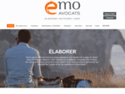 screenshot http://www.emo-hebert.com/ cabinet d'avocat à rouen et au havre