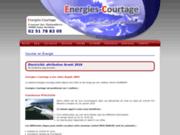 screenshot http://www.energies-courtage.fr/ Fournisseur Gaz