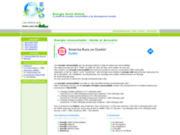screenshot http://www.energies-renouvelable.com/ energie renouvelable, biocarburant