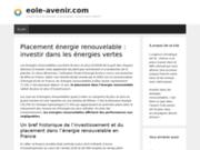 screenshot http://www.eole-avenir.com/ eole avenir, exploitation énergie éolienne
