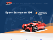 screenshot http://www.epave-enlevement-idf.fr enlevement epave