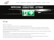 screenshot http://www.epc-Belgique.be Panneau signalétique