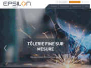 screenshot http://www.epsilon-tolerie.fr Industrie