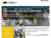 screenshot http://www.esolia.fr/ beton resine chape