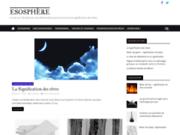 screenshot https://www.esosphere-esoterisme.com/ ésotérisme et paranormal