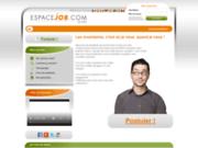 screenshot http://www.espacejob.com tous les jobs d'etudiant sur espacejob.com
