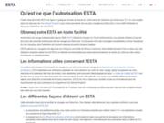 Obtenir ESTA internet voyage USA