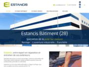 screenshot https://www.estancis-28.com/ bardage, toiture et étanchéité de bâtiment