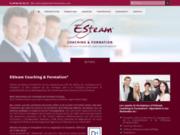 screenshot http://www.esteam-formation.com esteam coaching et formation, formation continue,