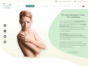 screenshot https://www.esthetique-tunisie.fr/prix.php Chirurgie esthetique Tunisie prix pas cher