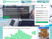 screenshot https://www.etablissementsdesante.fr professionnels de santé