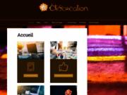 screenshot http://www.etixcreation.be/ etix création portfolio