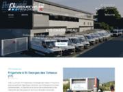 screenshot http://ets-chasserieau-17.com/ froid industriel et climatisation 17