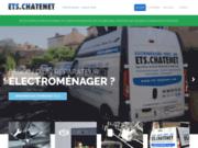 screenshot http://www.ets-chatenet.com ets chatenet - vente et dépannage électroménager