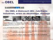screenshot http://www.ets-obel-lubrifiants.fr/ entrepôt de stockage industriel