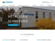 screenshot http://www.etsarchambault.com métallerie à Châtellerault 86