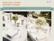 screenshot http://www.eventlove.com votre decorateur evenementiel