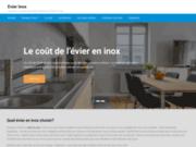 screenshot http://www.evierinox.fr/ Évier inox