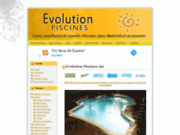 screenshot http://www.evolution-piscines.com installation piscine, matériel et accessoires