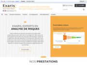 screenshot http://www.exaris.fr formation haccp