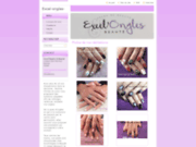 screenshot http://www.excel-ongles-beaute.fr votre institut de beauté à eaunes 31