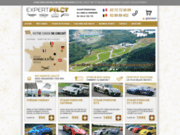 screenshot http://www.expertpilot.com stages de pilotage ferrari porsche sur circuit