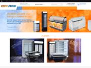 screenshot http://www.expofroid.com vente équipements frigorifiques professionnels