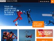 screenshot http://www.extreme-sport.fr ecole parachutisme