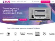 screenshot http://ezus.io/fr Logiciel des Organisateurs de voyage sur mesure