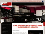 screenshot http://www.fabrication-mobilier-tardy.com ebénisterie fabrication de meubles à grenoble en isère