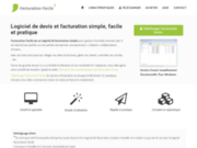 screenshot http://www.facturationfacile.com Facturation Facile