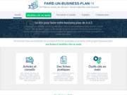 screenshot https://faire-un-business-plan.fr rédaction d'un business plan