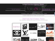 screenshot http://www.falbala-larochelle.com/ vêtements de grandes marques à petits prix
