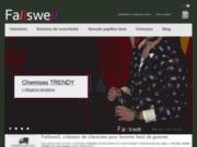 screenshot http://www.fallswell.com Chemises pour homme
