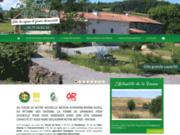 screenshot http://www.fermedegrandris.com/ Gîte de grande capacité dans la Loire