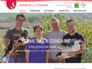 screenshot http://www.fermedelacondarie81.fr/ producteur de volaille