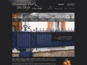screenshot http://www.ferronnerie-art-forge.com/ ferronnerie d'art sur mesures metalliques dordogne