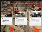 screenshot http://www.fgadesign.com peinture perso pour casque, moto, auto et kart