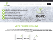screenshot http://www.fichiers-clients.com fichier clients