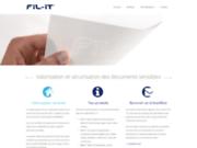 screenshot http://www.fil-it.fr/ papier filigrané pour documents personnalisés : fil-it