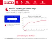 screenshot https://fioulaumeilleurprix.com prix du fioul