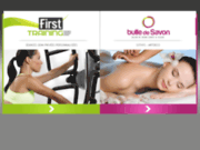 screenshot http://www.first-training-studio.com centre pilates / coaching et bien être