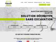 screenshot https://fissure-fondation.com/ Réparation de fissure de fondation sans excavation