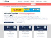 screenshot http://www.forfaits-sans-engagement.fr forfaits sans engagement