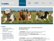 screenshot http://www.formationeducateurcanin.net/ dressage de chien