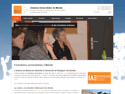 screenshot http://www.formationsuniversitaires.fr formation universitaire licence pro master à mende